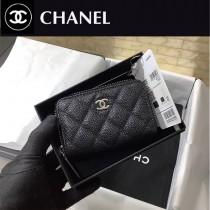 CHANEL 84511-02  原版皮新品 进口鱼子酱小牛皮卡包 钱包
