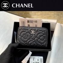 CHANEL82511 香奈兒 山茶花 belt bag 20新品 限量款 山茶花球紋牛皮零錢包卡包
