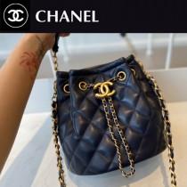 CHANEL AS2057-02  Chane1復古抽繩紐扣包桶包