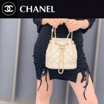 CHANEL AS2057-04  Chane1復古抽繩紐扣包桶包