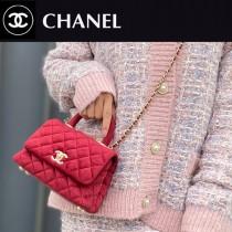 CHANEL AS2215-03  新款 绒布mini coco HANDLE 小迷你口盖手提包