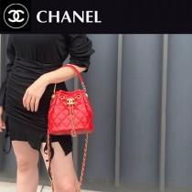 CHANEL AS2057-03  Chane1復古抽繩紐扣包桶包