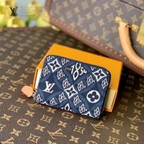 LV原版皮 M69997藍色 ZIPPY 零錢包