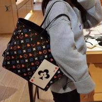 LV原版皮 M57483 Neverfull 中號手袋