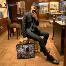 LV頂級原單M57284 新款GRAND SAC 牛仔布系列購物袋公文包