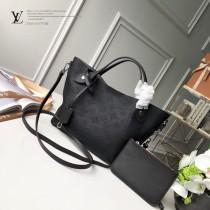 LV頂級原單 大號M54354 黑色 小牛皮激光鏤花穿孔Hina手袋購物袋