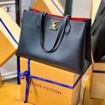 LV原版皮 M57345 2021春夏新品LOCKME 手袋購物袋