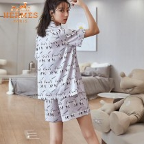 HERMES愛馬仕 春夏新品2套裝睡衣 件套 短褲 短袖