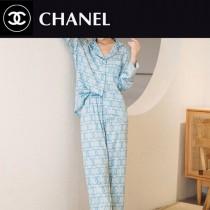 chanel香奈兒新品 長褲開衫長袖睡衣2件套