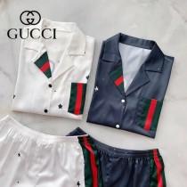 GUCCI古奇 春夏新品  套裝睡衣2件套 短褲 短袖