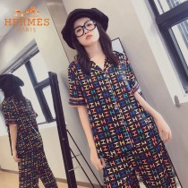 HERMES愛馬仕新款2件套睡衣  短袖 長褲