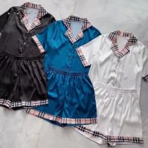 BURBERRY巴寶莉 春夏新品2套裝睡衣 件套 短褲 短袖
