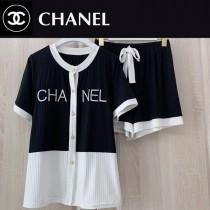 CHANEL  香奈兒新款睡衣 官網同步發售 超值2件套 短褲 短袖