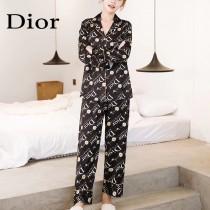 DIOR迪奧 新款2件套 長袖 長褲 經典印花圖案