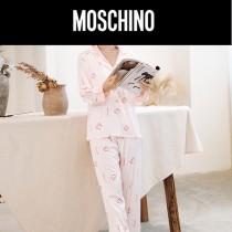 MOSCHINO 莫斯奇諾 新款 長袖長褲經典2件套睡衣