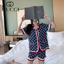 gucci 古奇 新款女士居家休閑睡衣套裝2件套 短褲 短袖