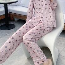 LV原單品質睡衣新款女款早春度假新品睡衣風襯衫套裝