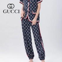 gucci 古奇 新款女士居家休閑睡衣套裝2件套 长褲 短袖