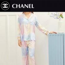 CHANEL香奈兒新品睡衣2件套長褲開衫長袖