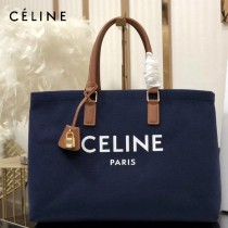 CELINE 賽琳-02 Tote黃棕色沙灘購物包