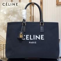 CELINE 賽琳-03 Tote黃棕色沙灘購物包