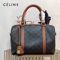 CELINE 賽琳-01  原單新款TRIOMPHE帆布波士頓包