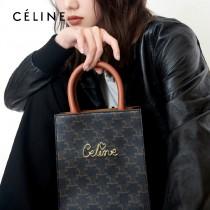 CELINE 賽琳-03 原單春夏新色 CABAS TRIOMPHE帆布花料MiNi號豎款手袋
