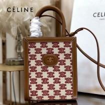 CELINE 賽琳 192082-07 原單春夏新色 CABAS托特包MINI迷你小號帆布購物袋