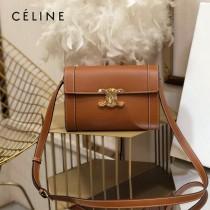 CELINE 賽琳 195263-02 原單 TRIOMPHE 牛皮革飾帶包