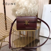 CELINE 賽琳 195263-05 原單 TRIOMPHE 牛皮革飾帶包