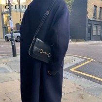 CELINE 賽琳 194143-5 CRECY 中號緞面牛皮革手袋
