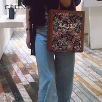 CELINE 賽琳 192082-001 原單 油画花卉系列 最新CABAS TRIOMPHE凯旋购物袋