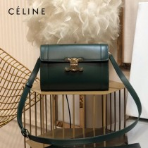 CELINE 賽琳 195263-03 原單 TRIOMPHE 牛皮革飾帶包