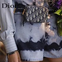 Dior 迪奧原單新款藍色 Oblique 印花腰包