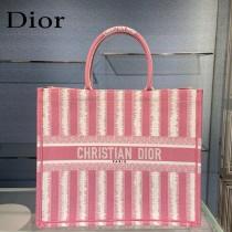 Dior迪奧-01 條紋Book Tote 手袋購物袋