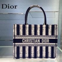 Dior迪奧-01  條紋Book Tote 小號手袋購物袋