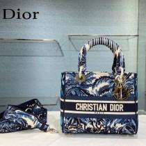 Dior-05  迪奧原單五格刺繡戴妃包  通體飾以本季標誌性的Tie