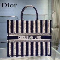 Dior迪奧-02 條紋Book Tote 手袋購物袋