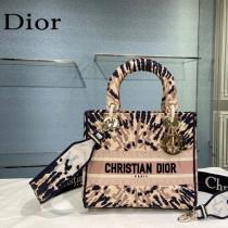 Dior-08  迪奧原單五格刺繡戴妃包  通體飾以本季標誌性的Tie