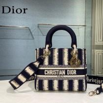 Dior-03 迪奧原單五格刺繡戴妃包 通體飾以本季標誌性的Tie