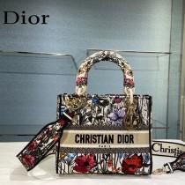 Dior-04  迪奧原單五格刺繡戴妃包  通體飾以本季標誌性的Tie