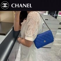 CHANEL-07  香奈兒新款原版皮新版吸扣版發財包WOC鏈條包