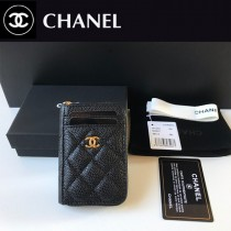 Chanel  AP1650-01  香奈兒新款原單品質小拉鏈菱格零錢包