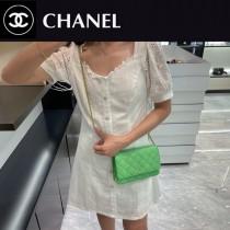 CHANEL-05  香奈兒新款原版皮新版吸扣版發財包WOC鏈條包
