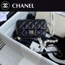 CHANEL AS1436-02  香奈兒新款原版皮最新爆款大mini cf珍珠包