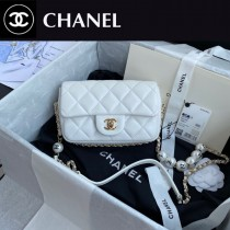 CHANEL AS1436-01  香奈兒新款原版皮最新爆款大mini cf珍珠包
