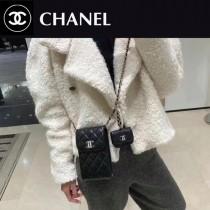 Chane1 2033-01  香奈兒新款球紋手皮手機母子包