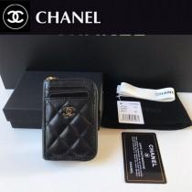 Chanel  AP1650-02  香奈兒新款原單品質小拉鏈菱格零錢包