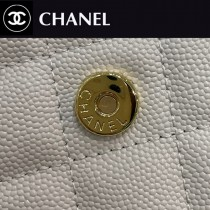 CHANEL-04  香奈兒新款原版皮新版吸扣版發財包WOC鏈條包