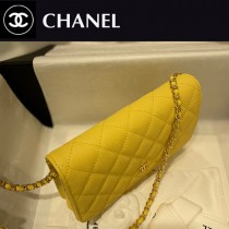 CHANEL-08  香奈兒新款原版皮新版吸扣版發財包WOC鏈條包